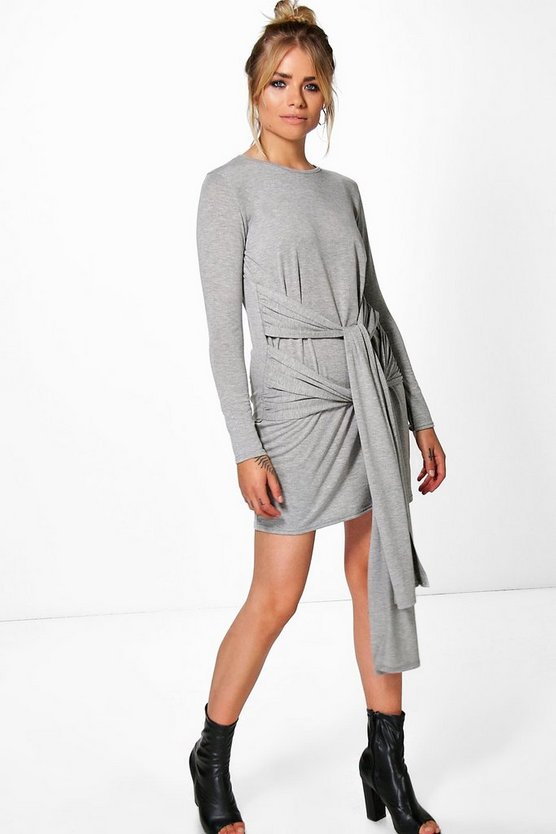 Antonina Double Tie Waist Shift Dress