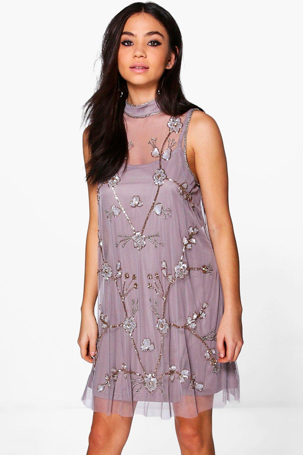 Boutique Nora Embellished Swing Dress