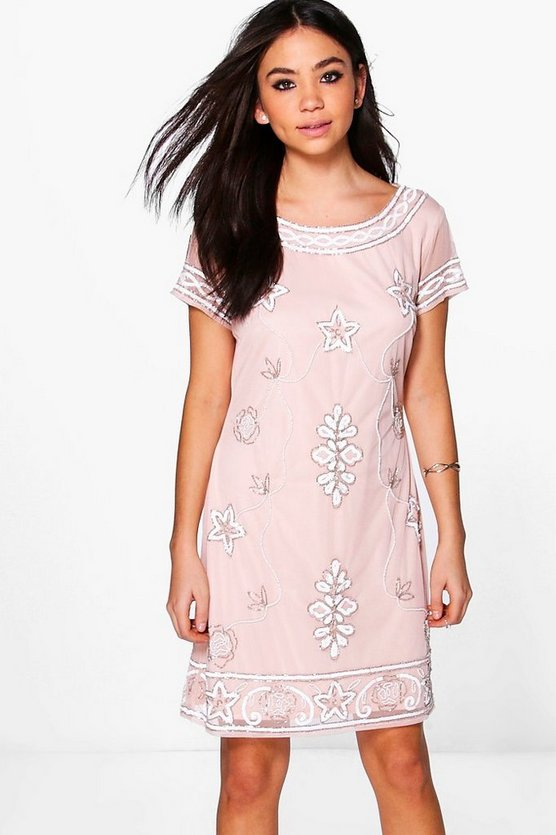 Boutique Lylo Embellished Shift Dress