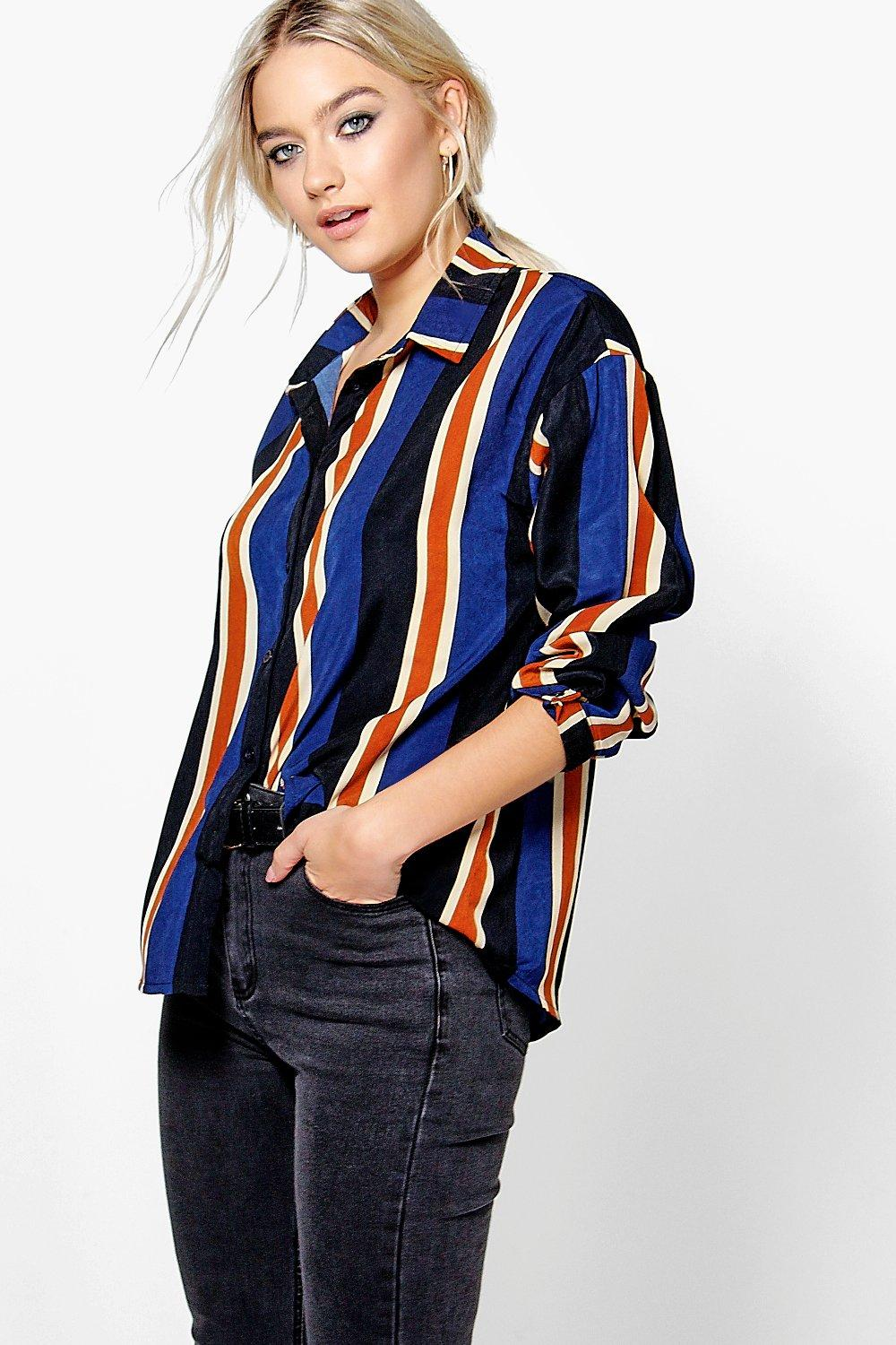 Steph Stripe Oversized Woven Shirt