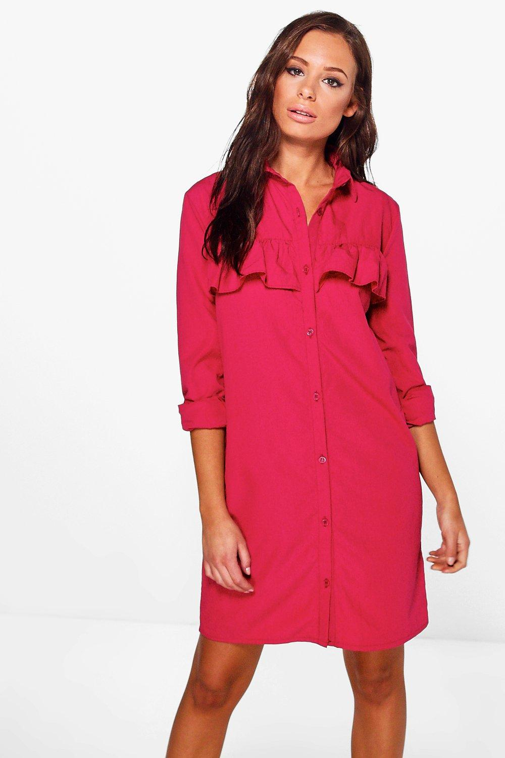Adelina Frill Front Shirt Dress