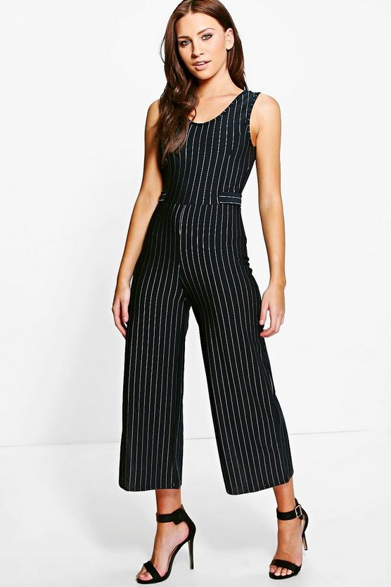 Isla Pinstripe Tailored Jumpsuit