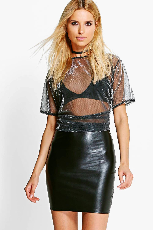 boohoo womens lexie leather look mini skirt ebay