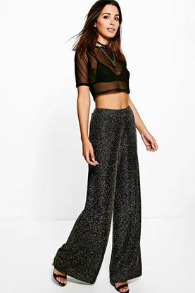 Laill Metallic Wide Leg Trouser
