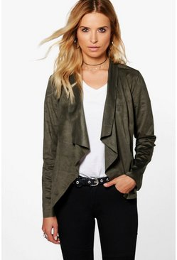 Teresa Suedette Waterfall Jacket