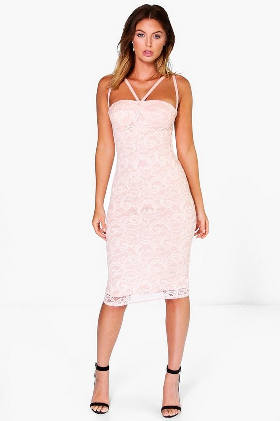 Gillian Strappy Lace Bodycon Dress