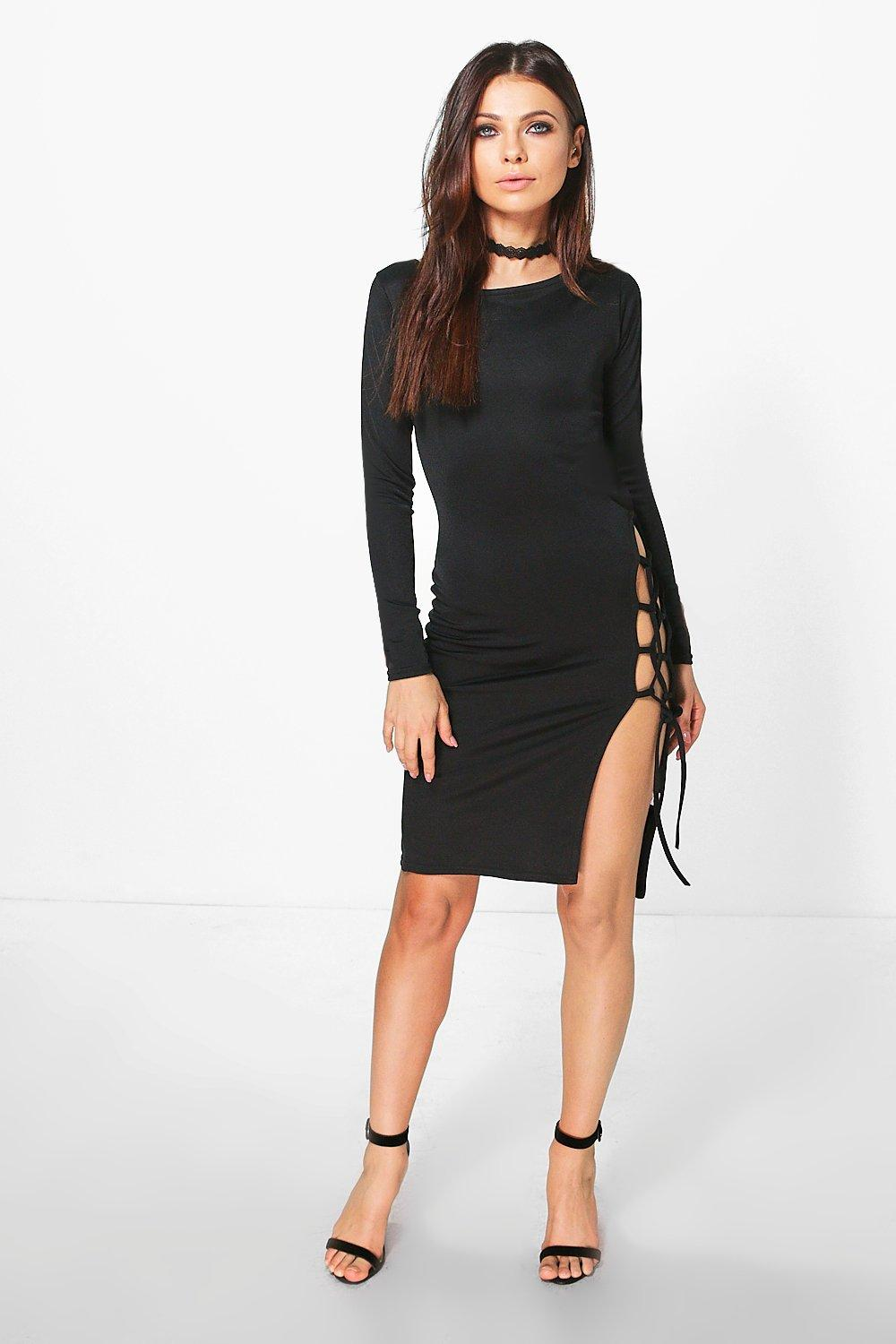 Camelia Lace Up Bodycon Dress