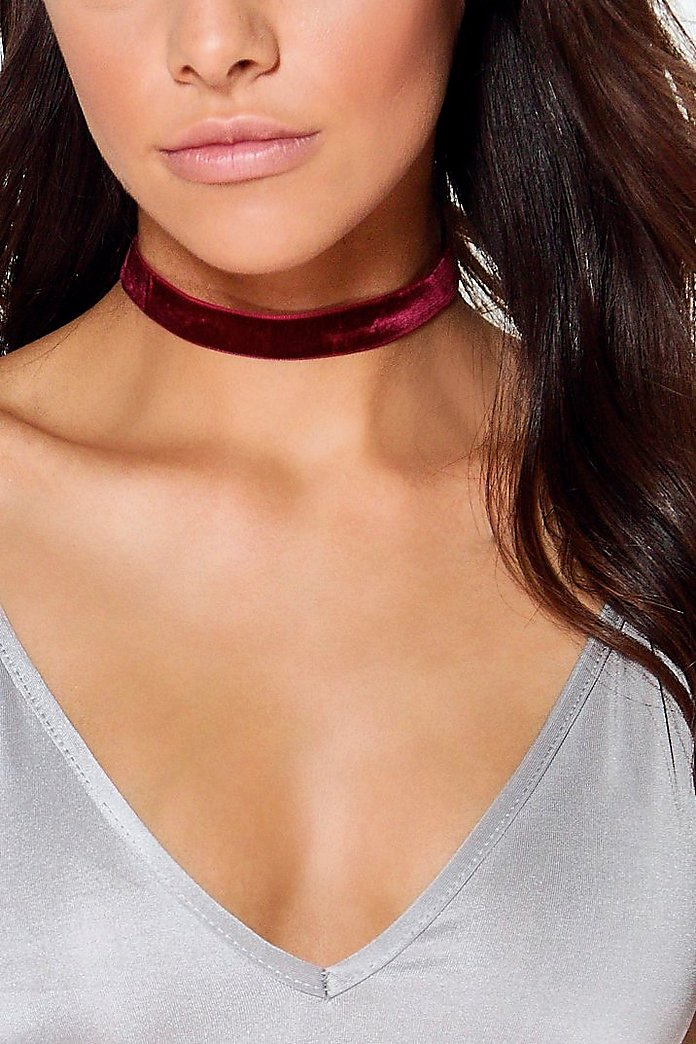 Ava Velvet & Diamante Layered Choker 2 Pack