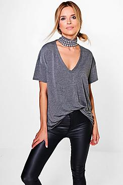 Holly Studded Choker Oversized Tee