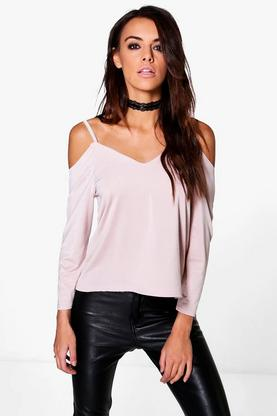 Lucy Slinky Cold Shoulder Top