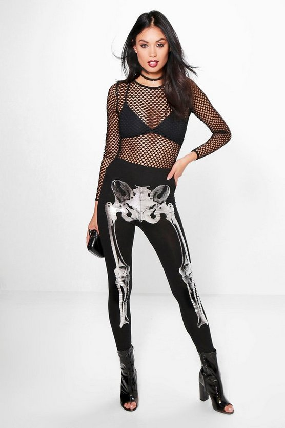 Priya Metallic Skeleton Leggings