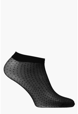 Millie Sheer Spotty Ankle Socks
