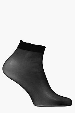 Summer Frilly Sheer Ankle Socks