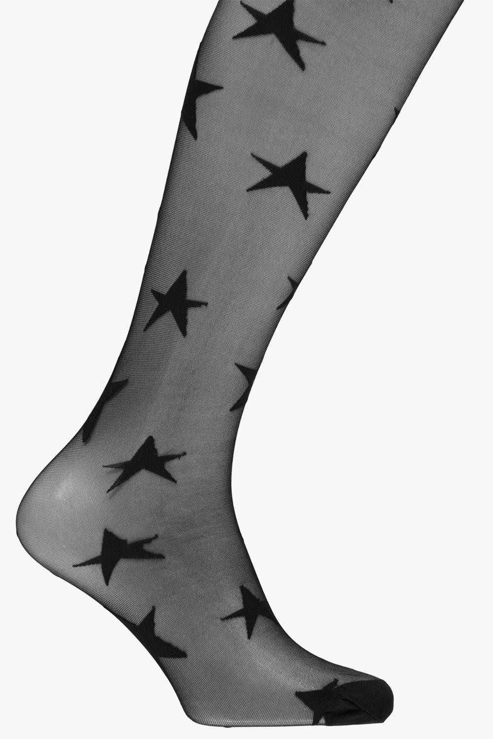 All Over Star Tights black
