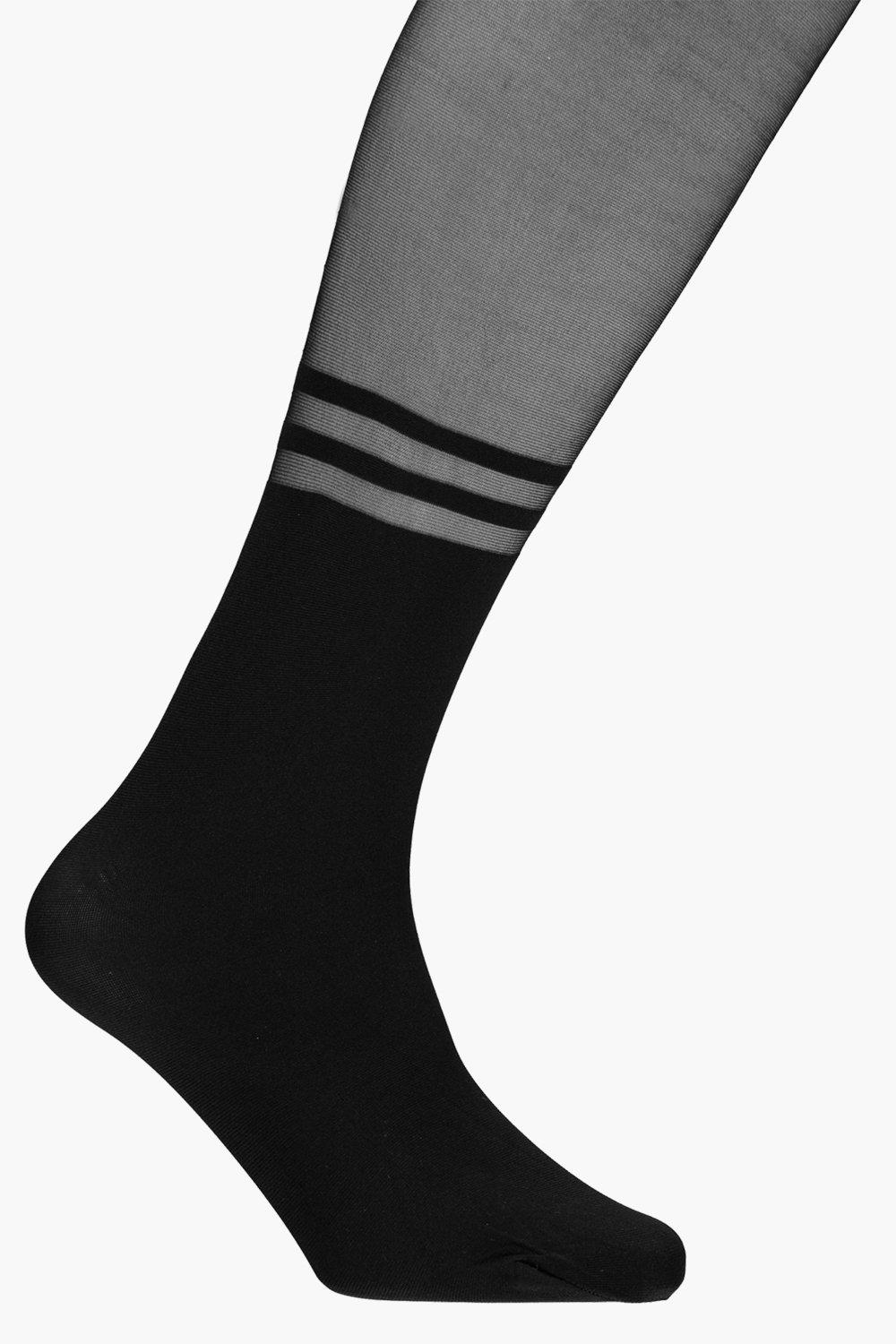 Two Stripe Sock Tights black