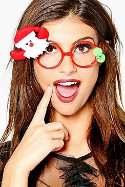 Layla Christmas Santa Novelty Geek Glasses