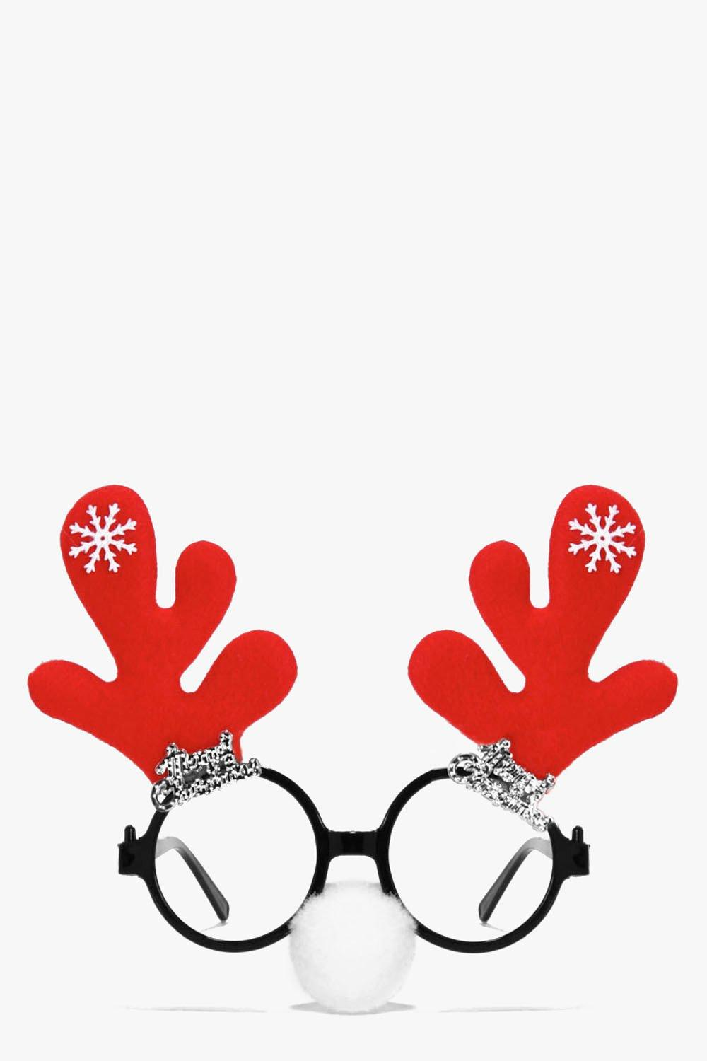 Eva Christmas Antler & Nose Novelty Glasses
