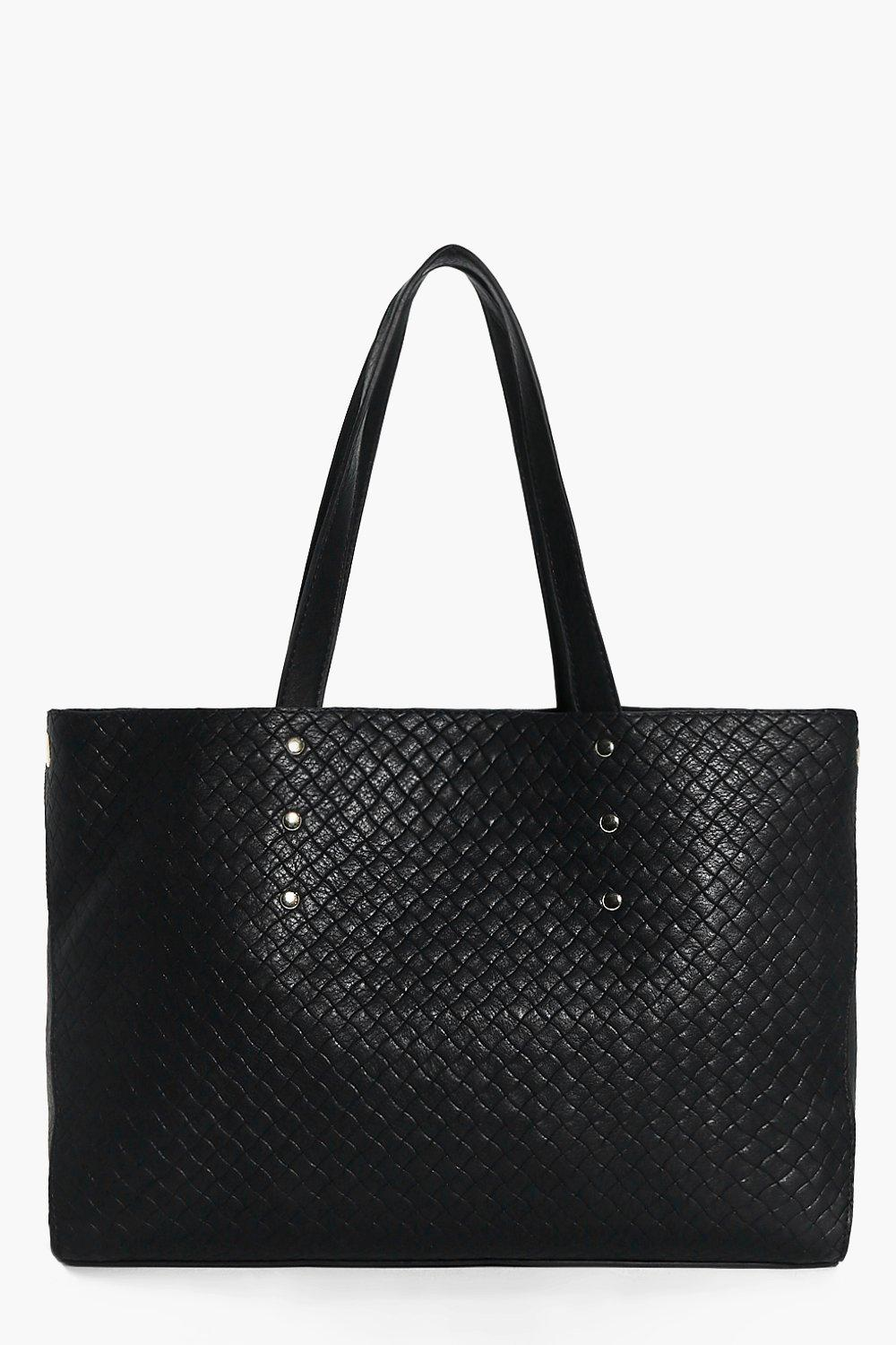 Lily Metal Detail Structured Woven Day Bag