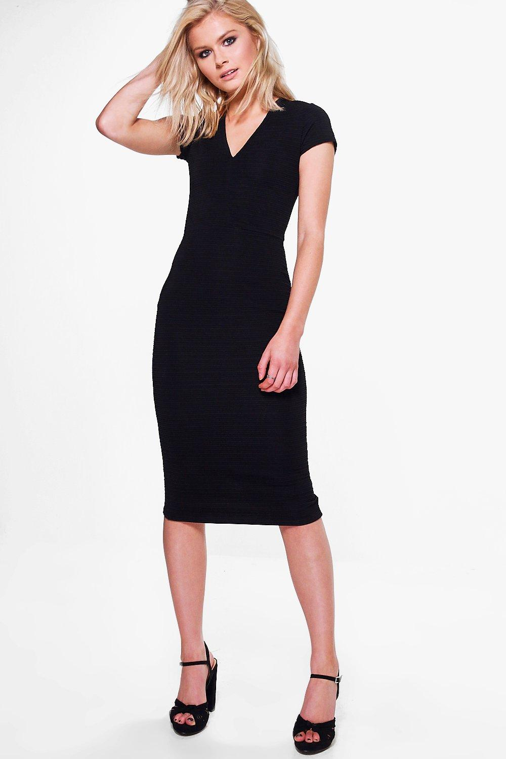 Emily Structured Bodycon Midi Dress