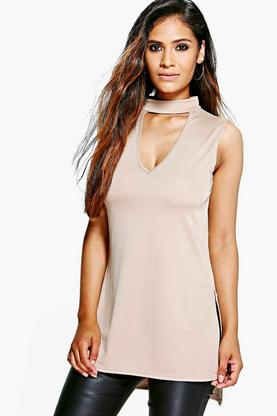 Ella Longline Cut Out Choker Top