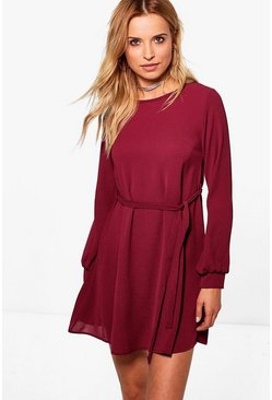 Lily Belted Woven Dress