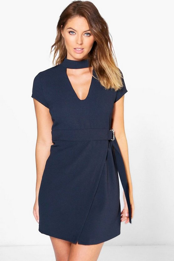 Willow Choker Woven Tailored Dress