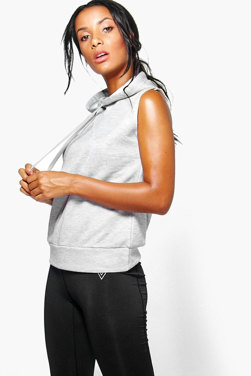 Leah Fit Running Hooded Tank Sweat