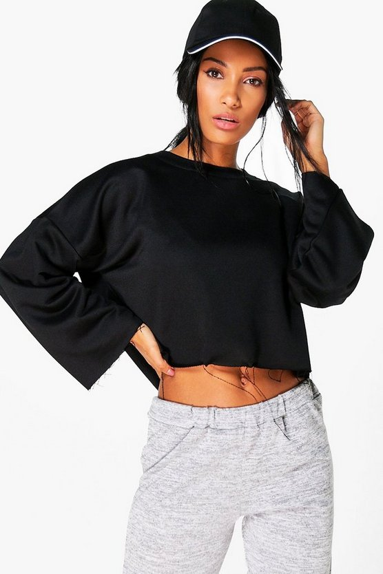 Elizabeth Fit Running Crop Sweat