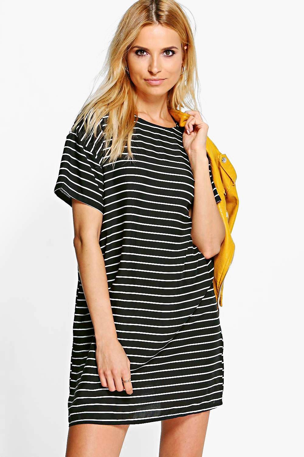 Lola Woven Stripe Shift Dress