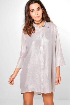 Amelia Sparkle Glitter Shirt Dress