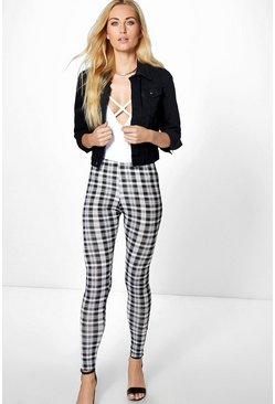 Olivia Monochrome Check Leggings