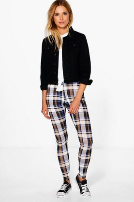 Oriana Tonal Check Leggings