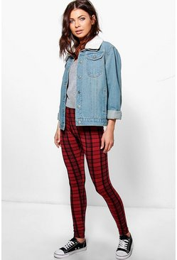 Ysabel Tonal Tartan Check Leggings