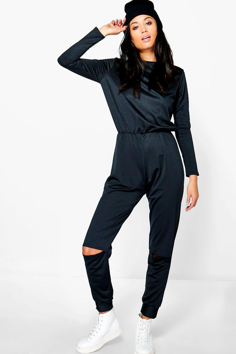 Lorraine High Neck Slit Knee Jumpsuit