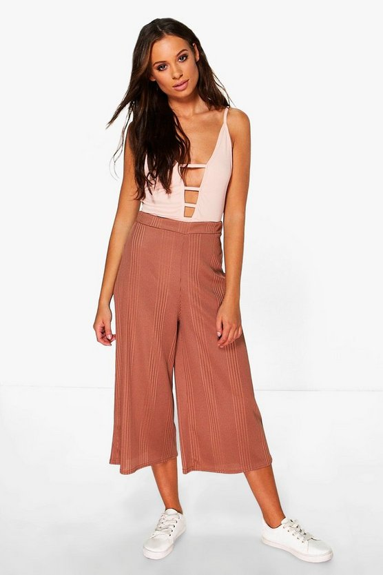 Leila Chunky Ribbed Culotte