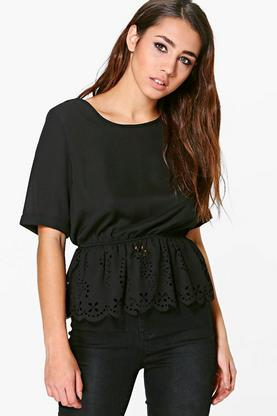 Rosie Cutwork Hem Top