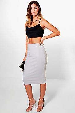 Lara Ribbed Midi Skirt