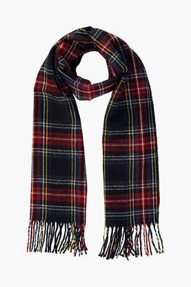 Sophie Black Check Brushed Scarf