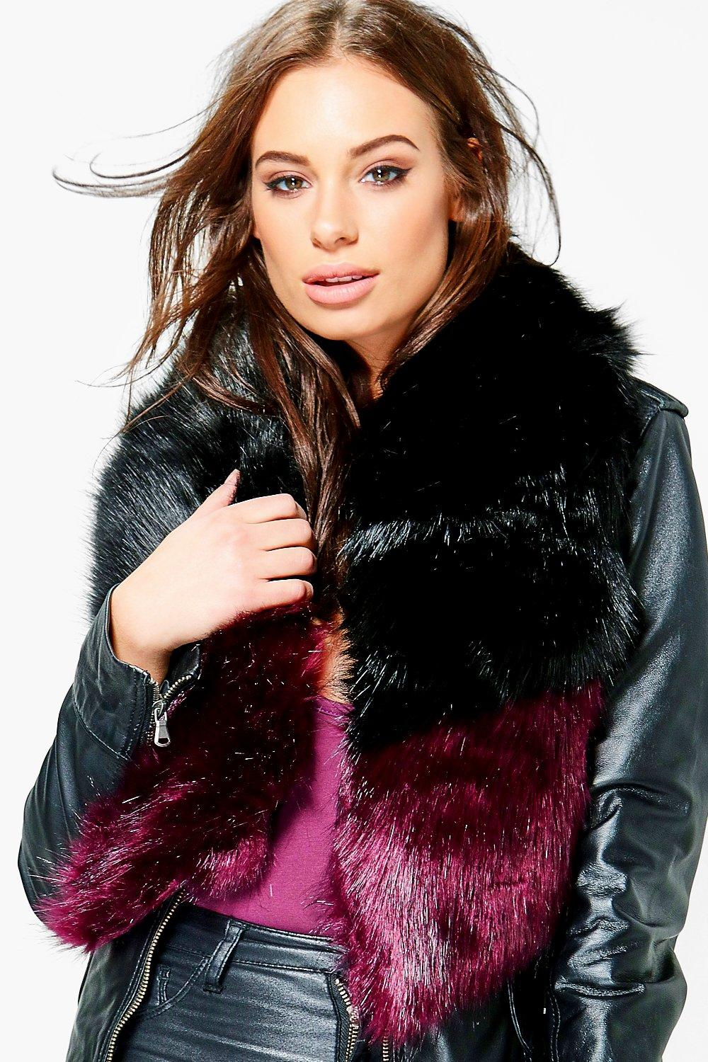 Grace Contrast Fur Collar