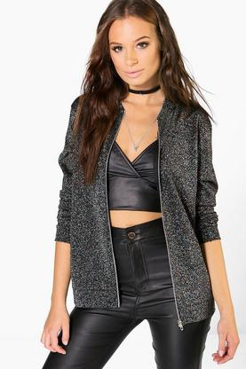 Darcy Multi-Coloured Metallic Bomber