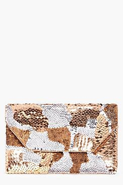 Isabella Multi Sequin Clutch Bag