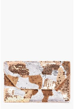Isabella Multi Sequin Embellished Clutch Bag