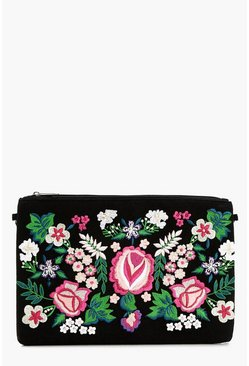 Ava Embroidered Clutch Bag