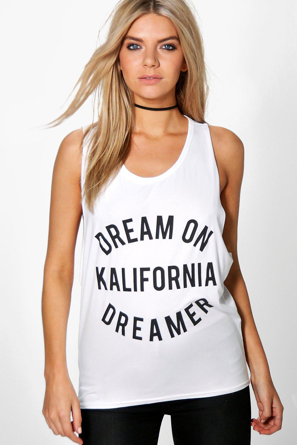 Yasmin Dream On Slogan Vest