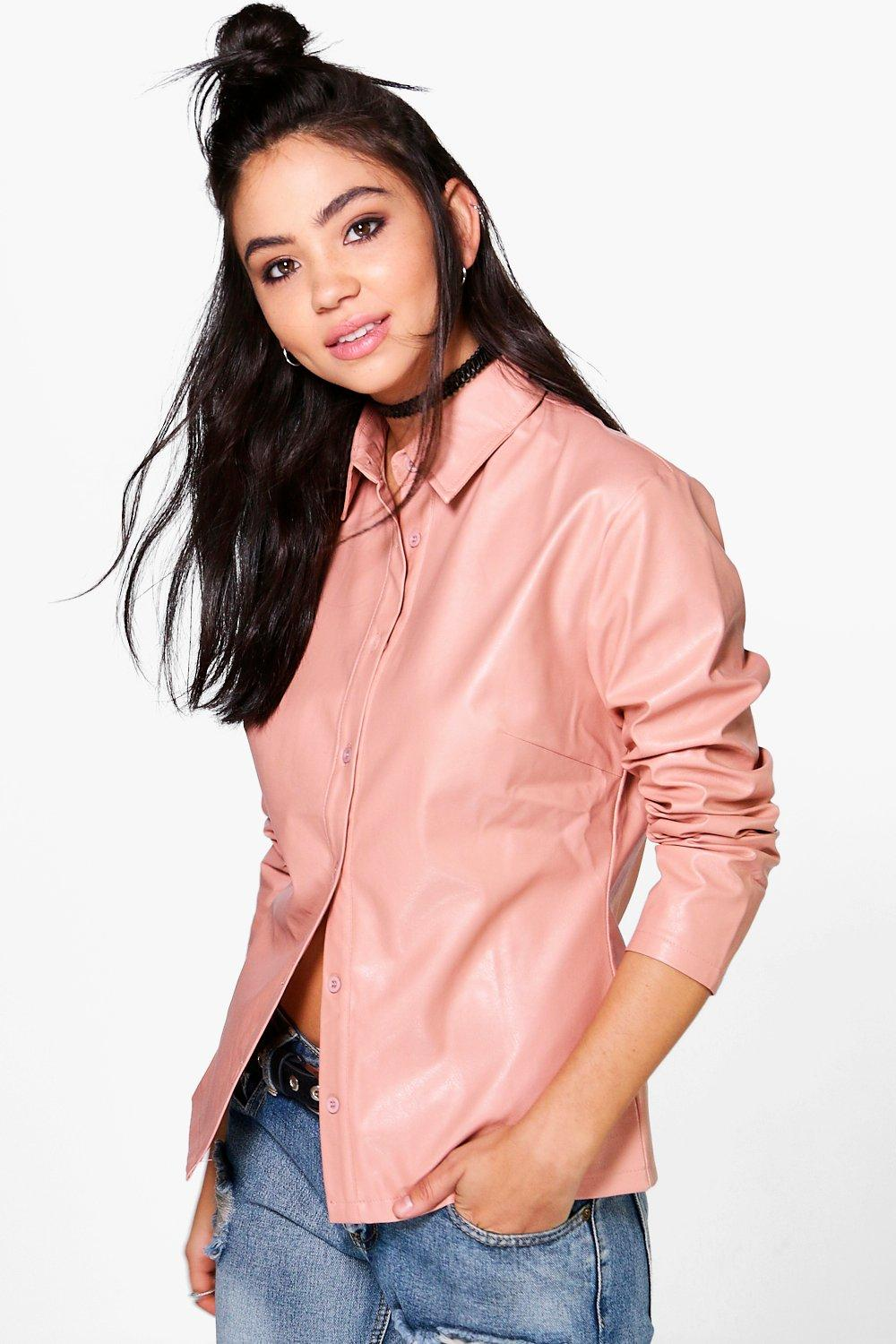 Florence PU Fitted Shirt