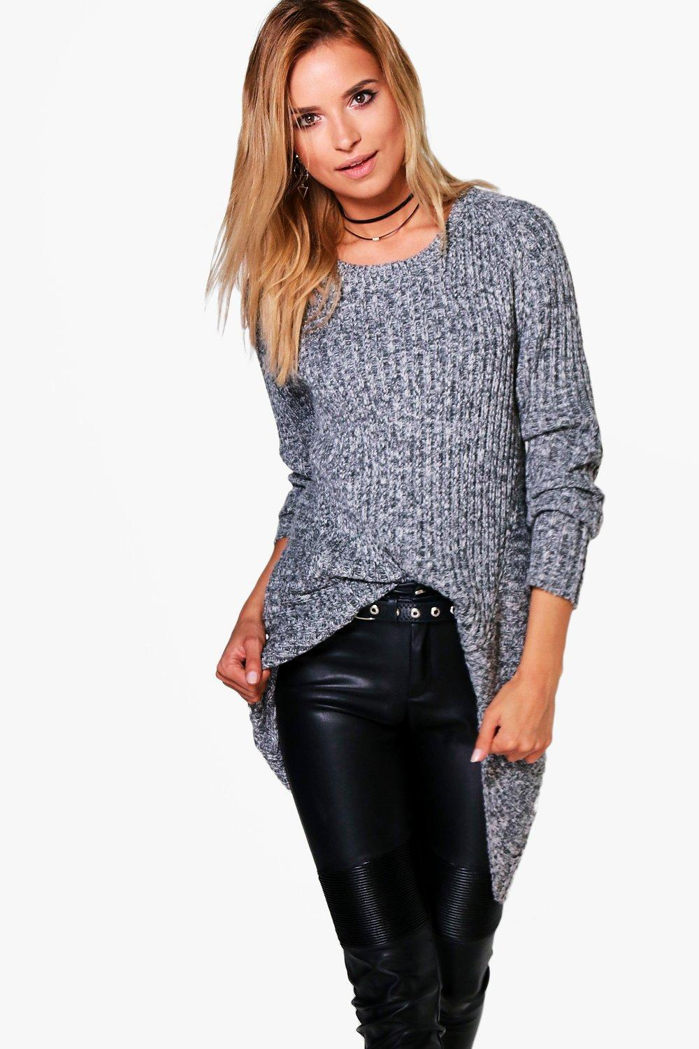 Isobel Mixed Rib Chunky Marl Jumper