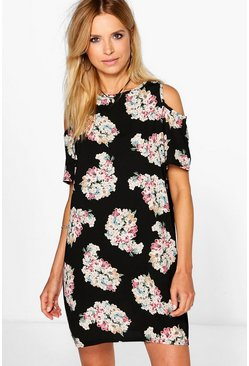 Adabelle Cold Shoulder Floral Shift Dress