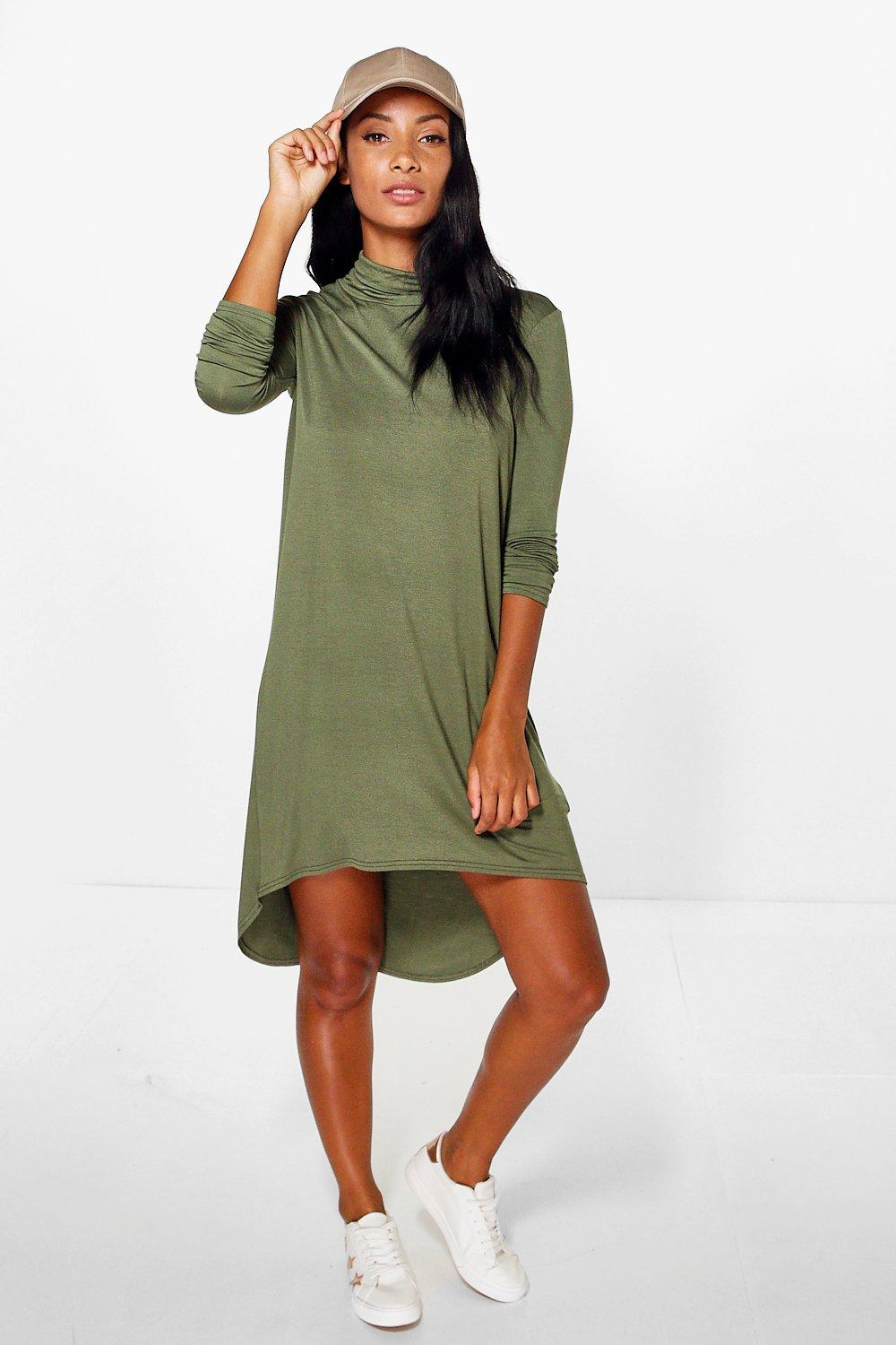 Tansy Roll Neck Long Sleeved Bodycon Dress