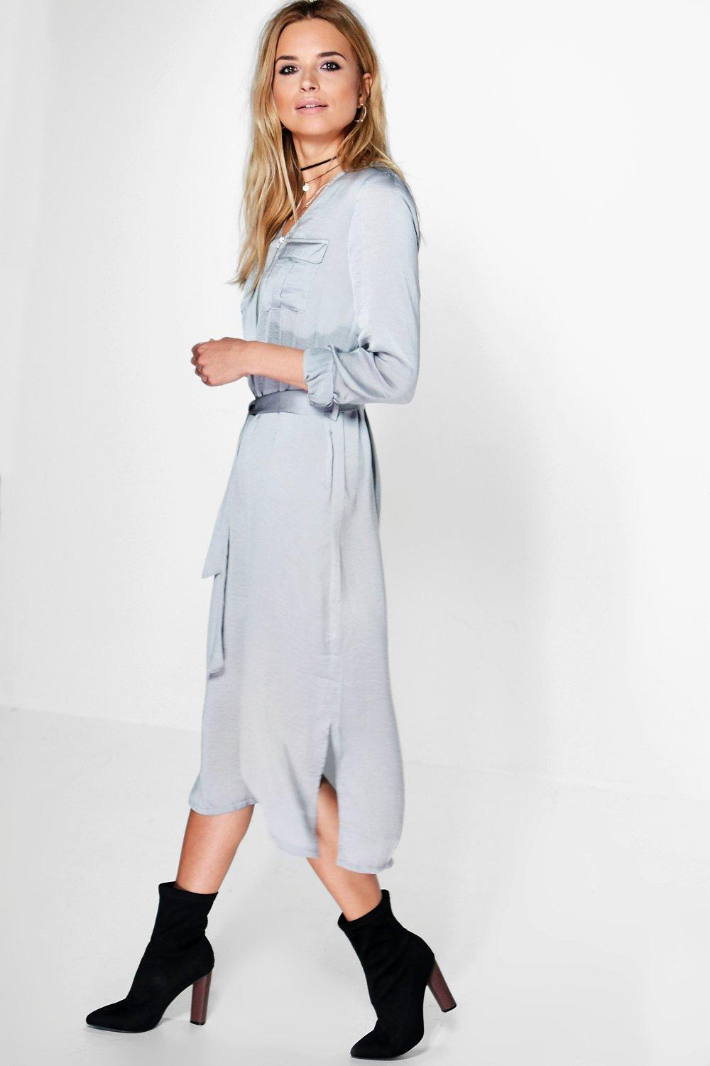 Melinda Utility Zip Shirt Dress