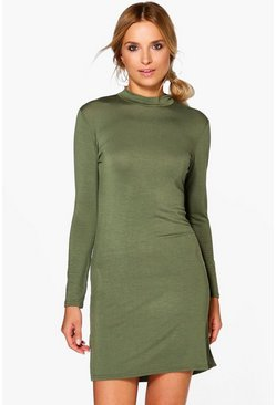 Lizeth Turtle Neck Split Side Bodycon Dress